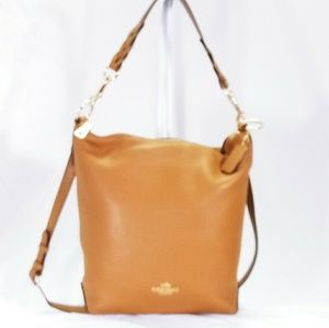 Coach Abby Duffle In Saddle Leather